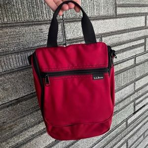 Vintage L.L. Bean Red Hiking Tote Bag